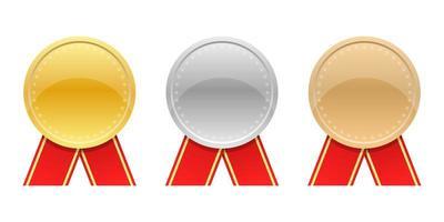 maquette de jeu de médailles gagnant vecteur