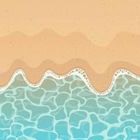 illustration de conception de vecteur de fond mer et plage
