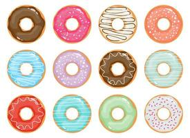 donuts collection vector design illustration isolé sur fond blanc