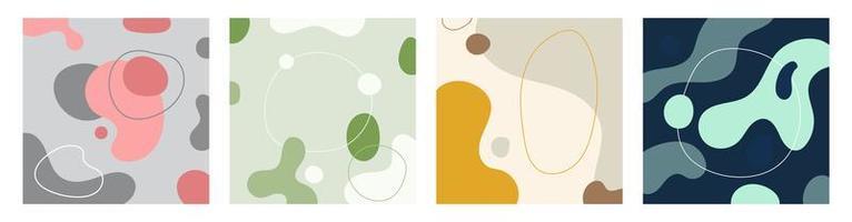 ensemble d'arrière-plans créatifs abstraits de modèle dans un style branché minimal avec un espace pour votre texte. vecteur