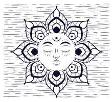 Illustration vectorielle noir et blanc dessinés à la main vecteur