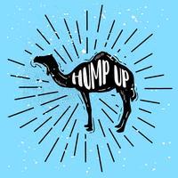 Vecteur de silhouette chameau dessinés à la main