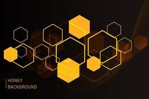 fond en nid d'abeille hexagonal. modèle simple de cellules en nid d'abeille des abeilles. illustration. vecteur. impression géométrique.