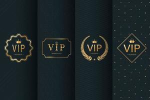 collection de motifs et emblèmes de luxe vecteur