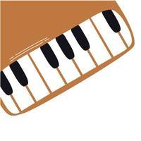 ligne d'instrument de musique piano et icône de style de remplissage
