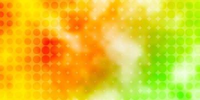 toile de fond de vecteur vert clair, jaune avec des points.