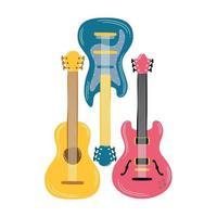 icône de musique instrument de guitare électrique vecteur