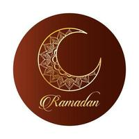décoration de ramadan kareem lune dorée