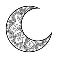 décoration monochrome lune ramadan kareem