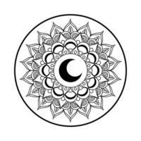 icône de décoration mandala ramadan kareem