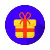boîte cadeau présente icône isolé