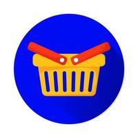 icône isolé de marketing panier shopping