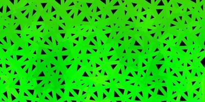 modèle de triangle abstrait vecteur vert foncé.