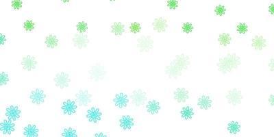 disposition naturelle de vecteur vert clair avec des fleurs.