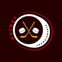 logo de sport de hockey vecteur