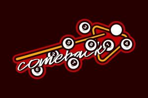 autocollant de typographie sport billard vector