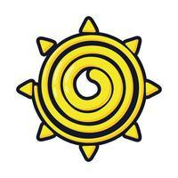 Soleil d'été mexicain plat style icône vector illustration design