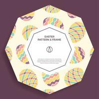 bannière d'oeuf de Pâques vecteur