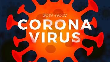 illustration de cellules de coronavirus vector 2019-ncov
