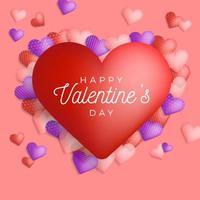 bannière de voeux joyeux saint valentin vecteur