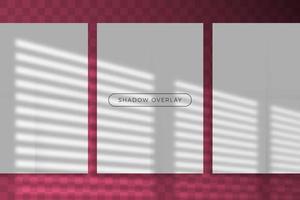 superposition de l'ombre d'une maquette de marque d'éclairage naturel