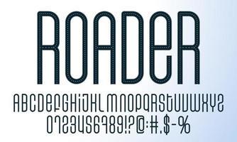 ensemble d'alphabet de route vecteur