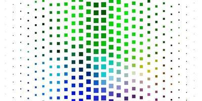 modèle de vecteur multicolore clair dans les rectangles.