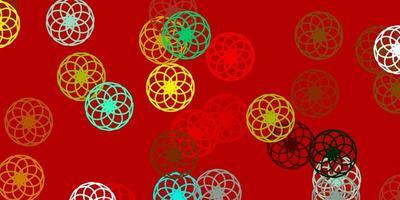 toile de fond de vecteur multicolore clair avec des points.