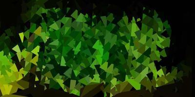fond d'écran polygone dégradé vecteur vert foncé, jaune.