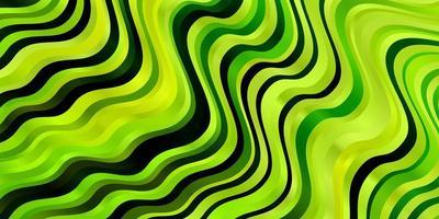 modèle vectoriel vert clair, jaune avec des lignes ironiques.