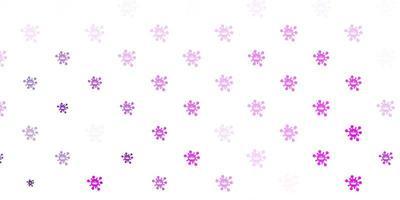 toile de fond de vecteur rose clair avec symboles de virus