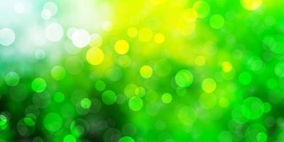 fond de vecteur vert clair, jaune avec des cercles.