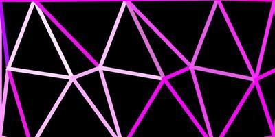 modèle de triangle poly violet clair, rose.