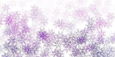 motif abstrait de vecteur violet clair avec des feuilles.