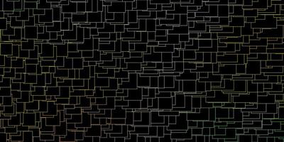 disposition de vecteur multicolore sombre avec des lignes, des rectangles.