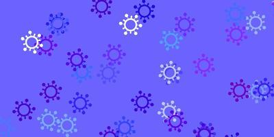 texture de vecteur bleu clair, rouge avec des symboles de la maladie.