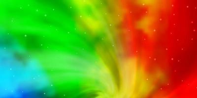 modèle vectoriel multicolore clair avec des étoiles au néon.