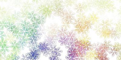 modèle abstrait de vecteur multicolore clair avec des feuilles.
