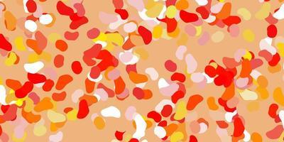 toile de fond de vecteur orange clair avec des formes chaotiques.
