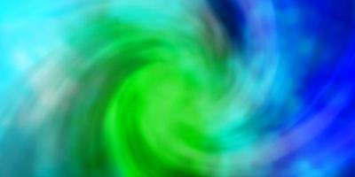 toile de fond de vecteur bleu clair, vert avec cumulus.