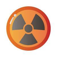 icône de signal de mise en garde nucléaire vecteur