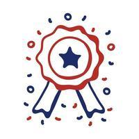 ruban de sceau avec style de ligne étoile