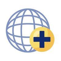 sphère avec symbole croix médicale