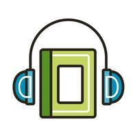 livre électronique avec des écouteurs