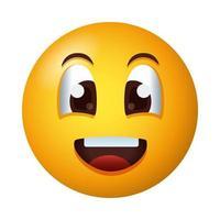 icône de style dégradé visage heureux emoji vecteur
