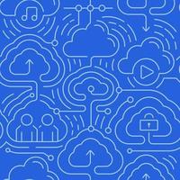 fond transparent de cloud computing vecteur