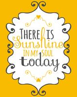 Sunshine dans mon âme affiche d'art de mur vecteur