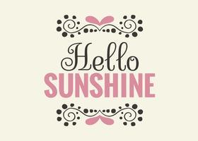 Bonjour Sunshine Wall Art Poster vecteur