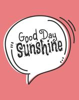 Affiche d'Art de mur du soleil bonne journée mignonne vecteur
