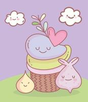 cupcake et cookie menu restaurant nourriture mignon